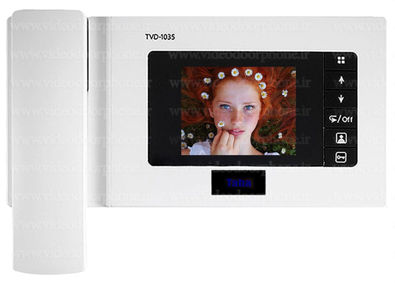 ایفون تصویری تابا TVD-1035 مدل حافظه دار