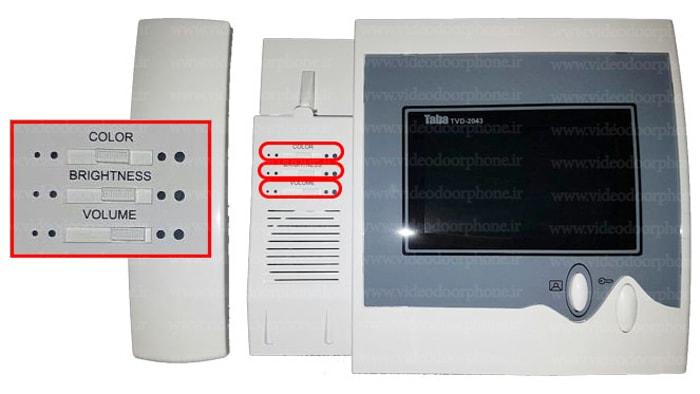 دکمه-های-تنظیمات-ایفون-تصویری-TVD-2043