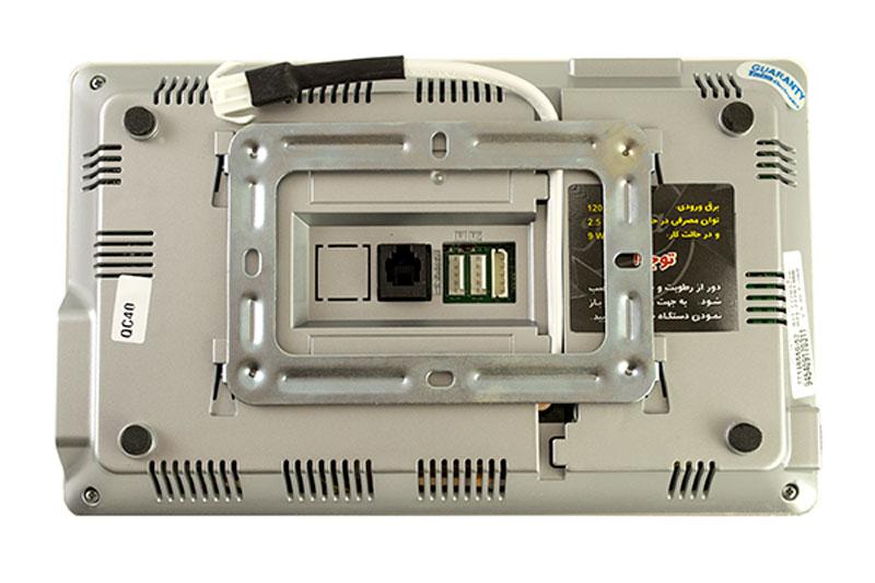 نمای پشت ایفون تصویری تابا مدل 2070
